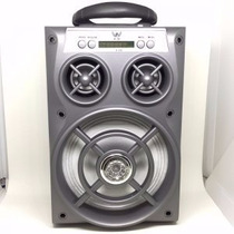 Caixa De Som Amplificada Bateria Usb Mp3 Radio Fm 15 W Poten