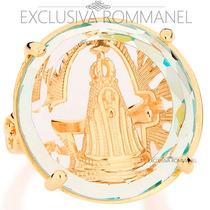 Rommanel Anel Nossa Senhora Aparecida Folheada Ouro 511590