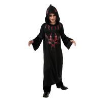 Disfraz De Demonio Túnica Pequeña Negra Y Roja Para Niños