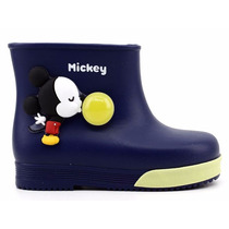 Bota Infantil Menino Galocha Grendene Mickey 21419 Pixolé
