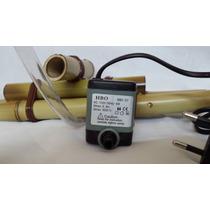 Kit Bica De Bambu 35 Cm + 1 Bombinha De 500 L/h Para Fonte