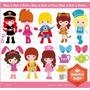 Kit Imprimible Disfraces Nenas Fiesta Png Clipart [137]