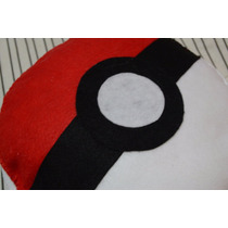 Kit 10 Almofadas Travesseiros Pokemon Pokebola 30cm Pelúcia