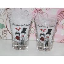 Souvenirs Vaso Shot De Tequila Casamiento, 18 Y 15 Años