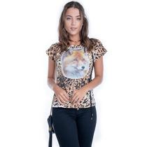 Blusa De Onça Com Estampa - Kam Bess - Bl1601