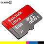 Memoria Sandisk Ultra Microsd 8gb + Adaptador 48mbps Clase10