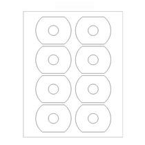 40 Etiquetas Duplimax Para Cdcard Inyeccion De Tinta Y Laser