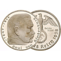 Bkz / Alemania Nazi - 2 Reichsmark 1937/38/39 Plata