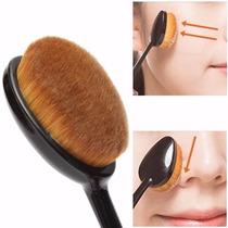 Brocha Pincel Oval 6 Maquillaje Mac Base Corrector Rubor