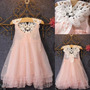 Vestido Pink Princesa Niña Flower Girl Summer Kid Baby Part<br><strong class='ch-price reputation-tooltip-price'>$ 70.000</strong>