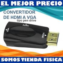 Convertidor Adaptador De Hdmi A Vga Tipo Pen Drive