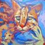 Pintura Óleo Cuadro Tigrillo Naturaleza Selva Decoración