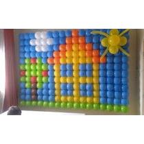 Tela Plastica P/baloes, Pds,painel Com 6,24m2 Cor Preta