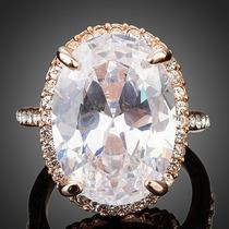 Impresionante Anillo De Cristal Diamante Swarovksi Amor