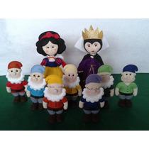 Branca De Neve E Os Anões Decoração Festa Princesas Feltro