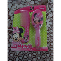 Set D Minnie D Disney 100% Original De Cepillo Y Peine