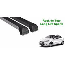 Rack De Teto Peugeot 208 S/ Teto Solar Long Life Sport Preto