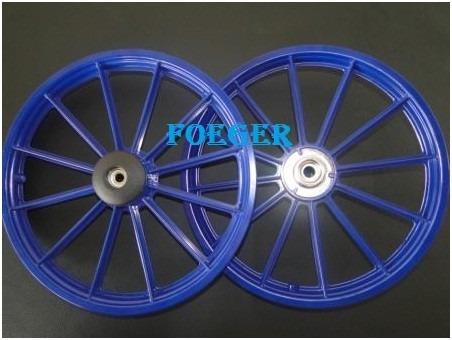 e6def6ff7 Par Roda Bicicleta Infantil Aro 16 Azul 870799 - R  120