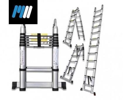 Escalera telesc pica doble 12 escalones de aluminio u s for Precio escalera telescopica aluminio