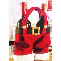 3 Bolsas Para Botellas De Vino Navideñas