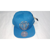 Gorra Element Vicera Plana Regulable Bordado Turqueza