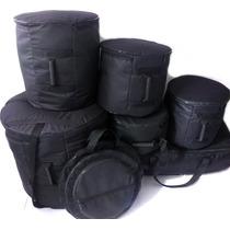 Capa Bag Para Bateria 8 Peças Completa Extra Luxo Acolchoada