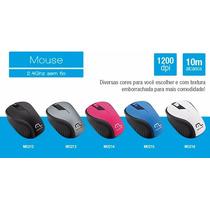 Mouse Sem Fio 1200dpi Usb Nano 2.4ghz Multilaser   5 Cores!!