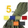 Cuerda Paracord 550 Spec Tipo I I I , 5 Metros, 7 Nucleos