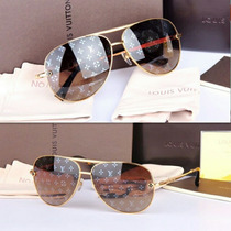 Lentes Louis Vuitton Conspiration Pilote Monogram. Original