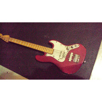 Miniatura Contra Baixo Jazz Bass 4 Cordas Antigo 28 Centim