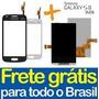 Kit Tela Touch + Display Galaxy S2 Duos S7273 Preto Branco