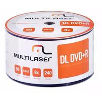 50 Dvd+r Dl Dual Layer 8.5gb 8x Multilaser Umedisc Xbox Xgd3