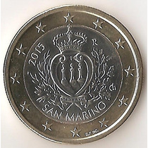 San Marino, Euro, 2015. Bimetalica. Brillante Sin Circular