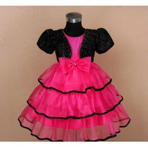 Vestido Infantil Festa Barbie Noite 3 Saias De Organza
