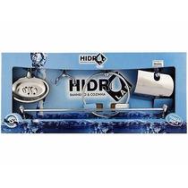 Kit Acessórios P/ Banheiro Aço Inox 5 Peças Hidrolar