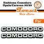 Par Emblema Comodoro (opala/caravan) 1980/1989