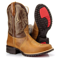 Bota Texana Feminina Montaria Country Bordada Rodeio Capelli