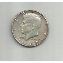 Ltc007: I/2 Dólar De Plata De Estados Unidos De 1969 D.