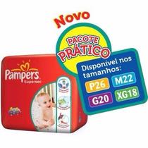 Fralda Pampers Super Sec M 22 Un (kit 5 Pacotes)