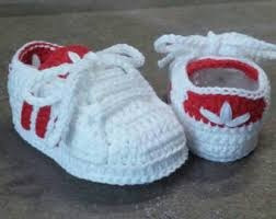 tenis a adid zapatos crochet para bebes tipo tejidos PIT0nT51