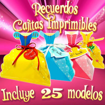 Recuerdos Para Fiesta Cajitas Tinker Bell Y Princ