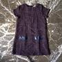 Vestido De Tweed Epk Original Talla 10 Color Morado