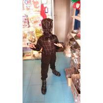 Disfraz Venom Hombre Araña Negro Talle 3 A 5 Años Spiderman