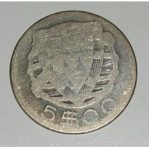 Moneda Plata Portugal 5 Escudos