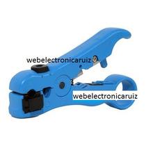 Pinza Ponchadora Para Pelar Cable Coaxial Y Cable Telefónico