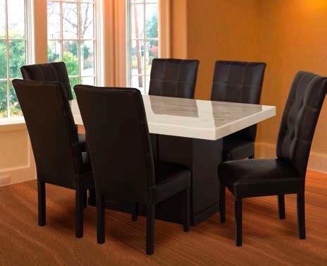1 mesa de madera con cub de marmol para comedor 6 per for Comedores modernos baratos