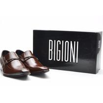 50% Off - Sapato Social Masculino Em Couro Bigioni Bico Fino