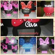 Souvenirs Portarretrato Mickey Y Minnie Con Nombre.