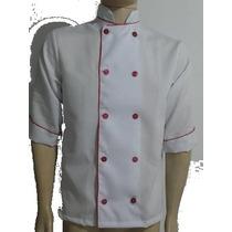 Dolma Chef De Cozinha Branca Com Vermelho
