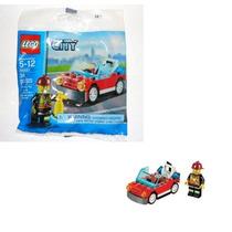30221 Bombero Con Carro Lego City Ugo